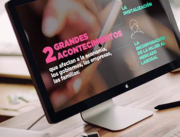 Entre nuestros servicios se encuentra la realización de presentaciones para comunicación interna, congresos, eventos y formación