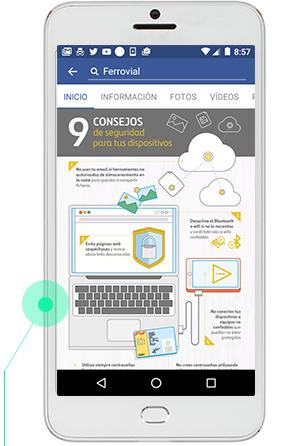 Realizamos diseños adaptados a las diferentes redes sociales y los distintos dispositivos