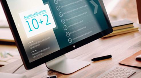 Realizamos presentaciones navegables adaptadas a PC y MAC, desde un entorno web a una app multiplataforma