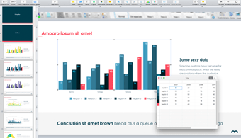Diseñamos plantillas corporativas preanimadas para Mac a partir del programa Apple Keynote