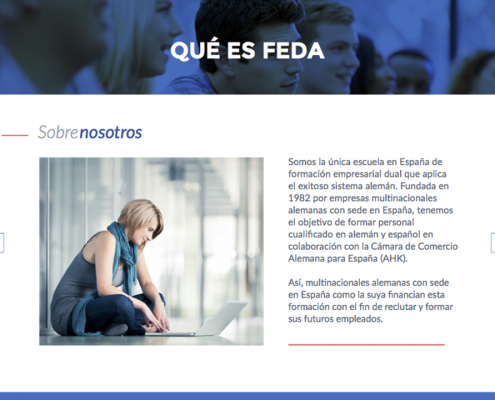 Elaboramos un documento interactivo a través de un pdf navegable para la empresa Feda, Empresas Asociadas