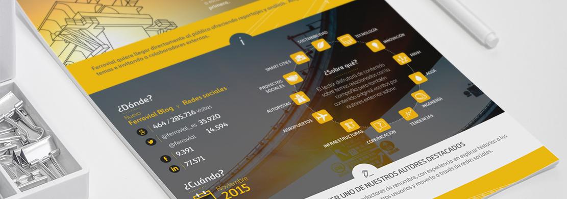 Ejemplo de la infografía Brand Journalism elaborada para Ferrovial