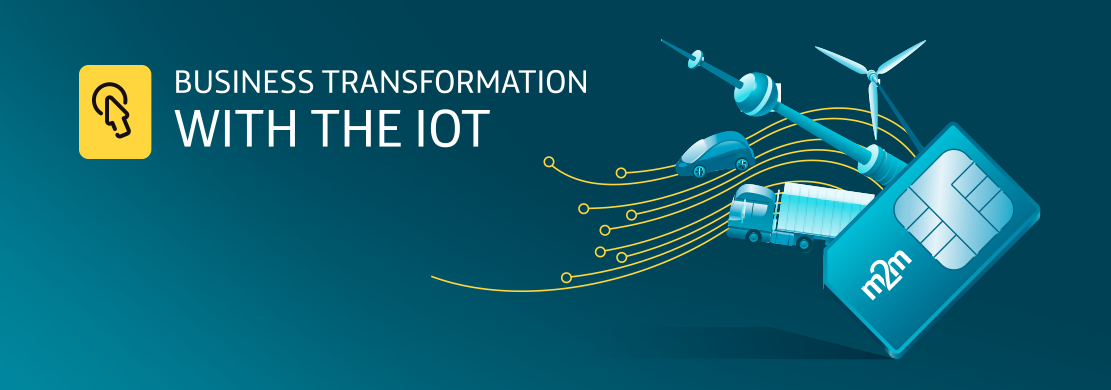 Ejemplo de la infografía Bussiness Transformation with the IOT diseñada para Telefónica M2M
