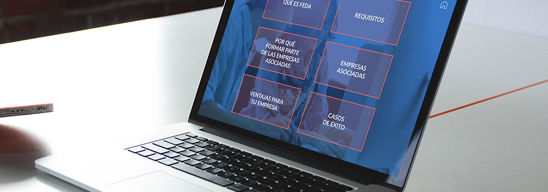 Ejemplo de documento interactivo pdf navegable realizado para FEDA, empresas asociadas
