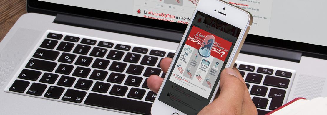 Ejemplo de la infografía Píldoras en formato móvil, que hemos diseñado para Vodafone