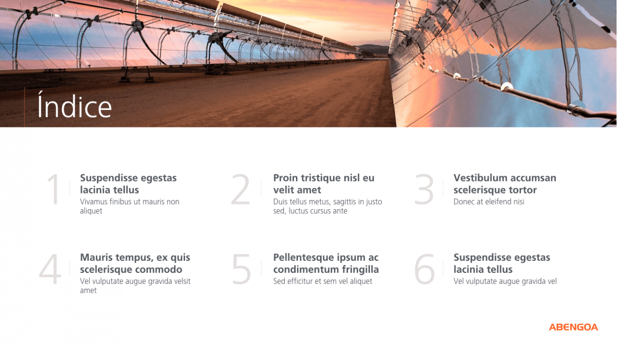 Abengoa: PowerPoint corporativo - VisualOne