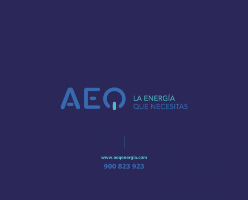 Creamos la plantilla corporativa en Power Point para la empresa AEQ