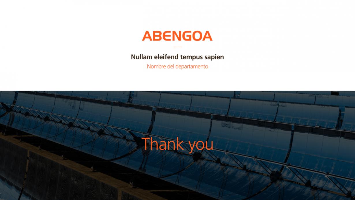Abengoa: PowerPoint corporativo - VisualOne