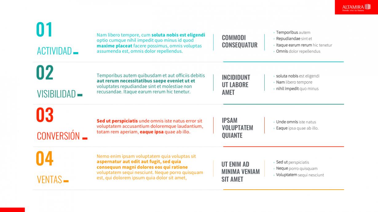 Altamira: PowerPoint corporativo - VisualOne