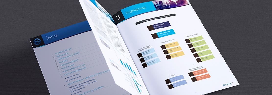 Ejemplo del documento corporativo Plan Operativo Anual 2016 que hemos realizado para FIIAPP